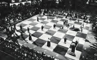 Lebendschach bei der Schacholympiade in Lugano, 1968